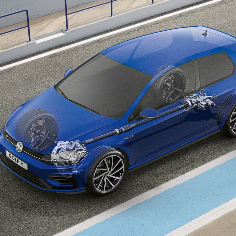 The 4Motion system in the Golf R
