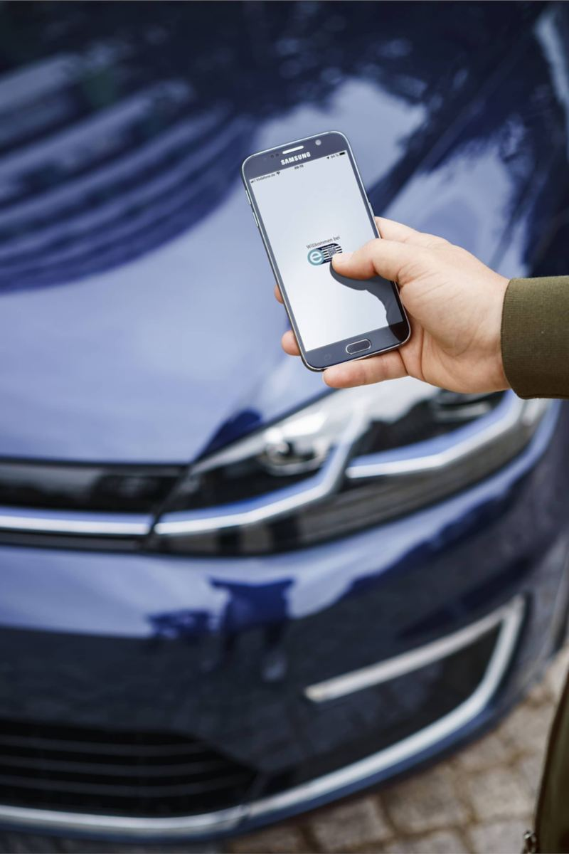 Início do processo de carregamento através do smartphone