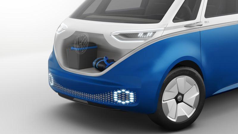vw Volkswagen ID. Buzz Cargo el varebil elbil elektrisk miljøvennlig utslippsfri oppbevaring baggasjerom baggasjeplass
