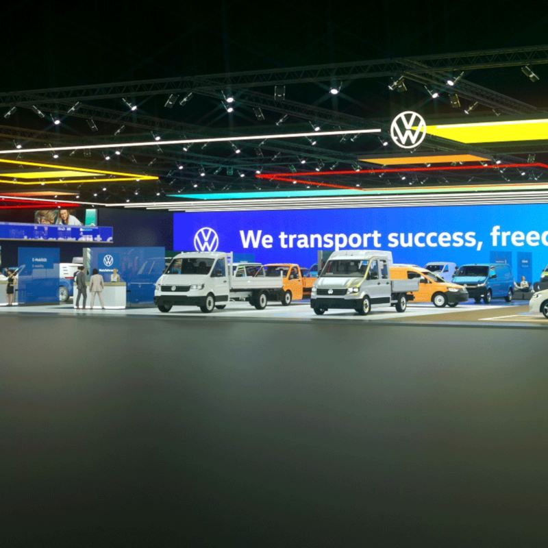 Virtuell bilmesse IAA Volkswagen Nyttekjøretøy Den nye Caddy Cargo ID. BUZZ Cargo el varebil elbil