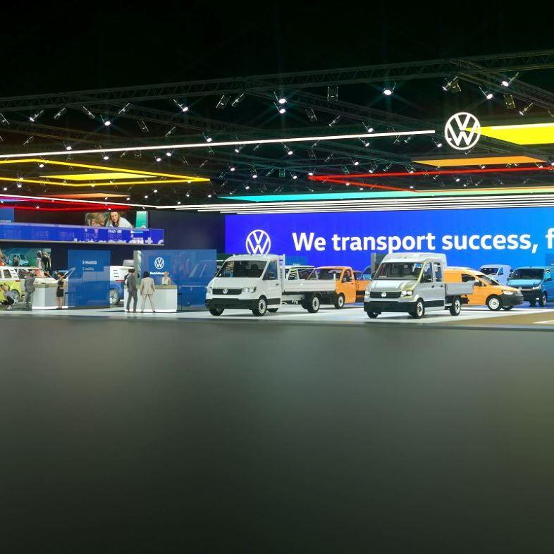 Wirtualne stosiko targowe Volkswagen Samochody Dostawcze