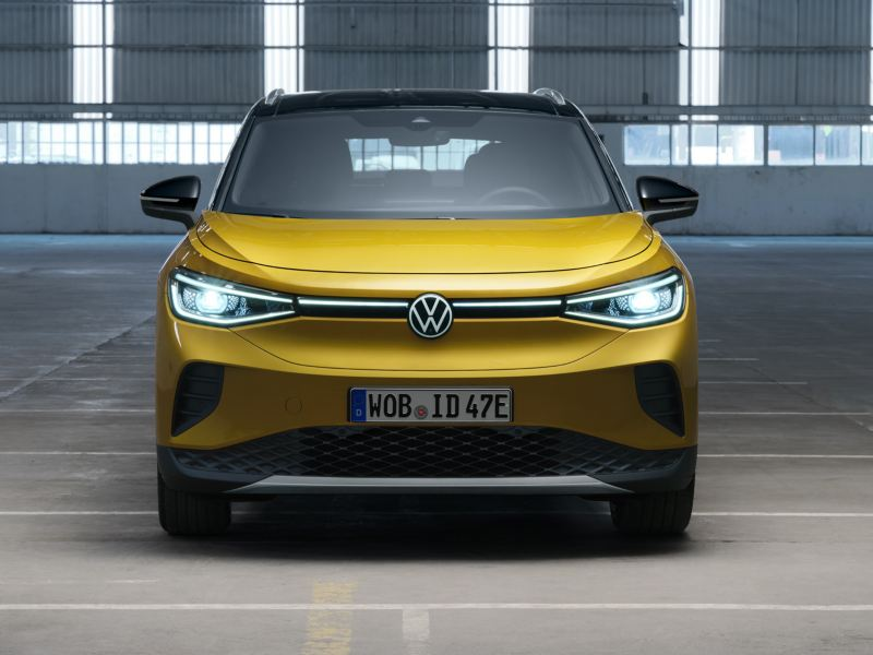 VW Volkswagen ID.4 elbil SUV sett forfra