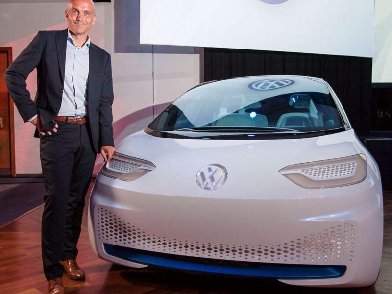 Volkswagen ID. konseptbil og Harald-Edvardsen Eibak