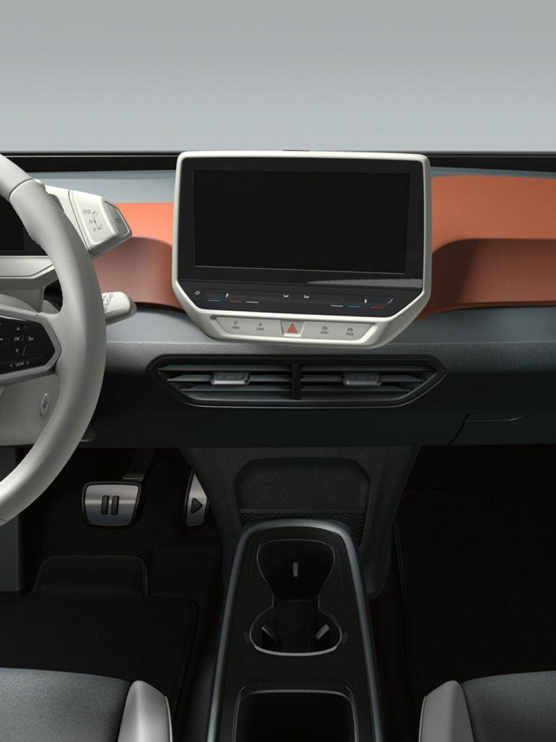 Interior of the Volkswagen ID.3 1ST Edition in Saffrano Orange