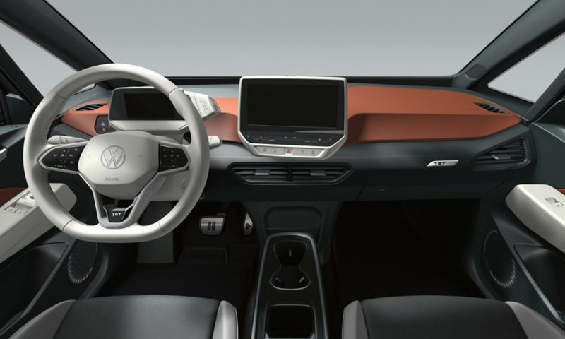 Interieur vom VW ID.3 1st in Safrano Orange