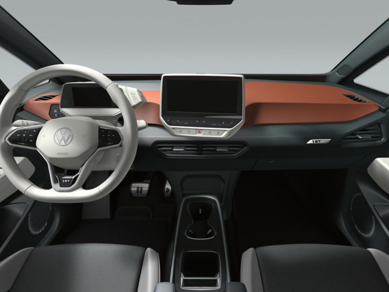 Interior of the VW ID.3 1ST in Saffrano Orange