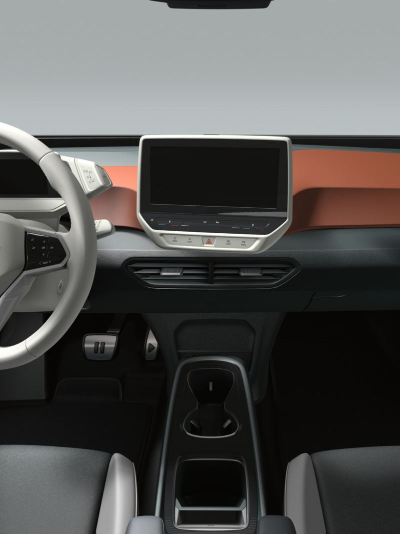 Interieur van de VW ID.3 1ST in Safrano Orange