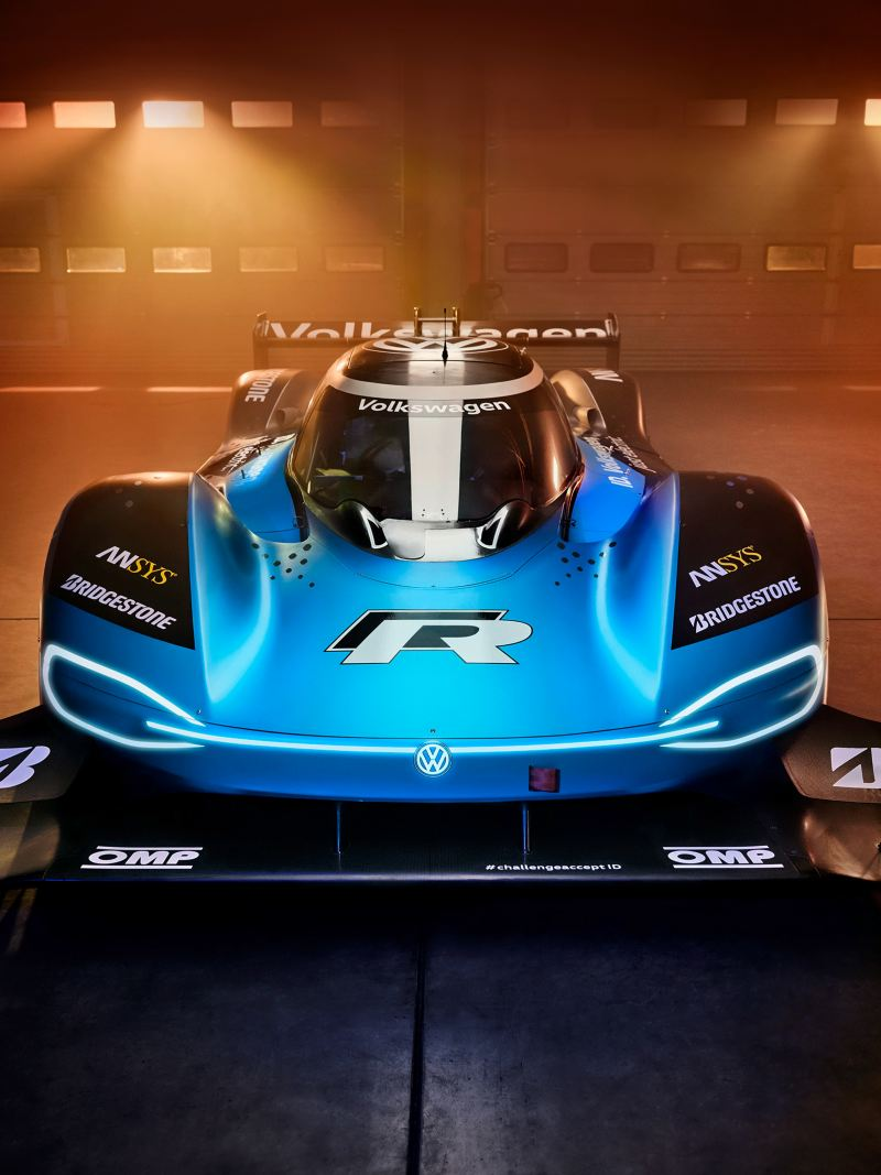 ID. R electric racing car from Volkswagen front view
