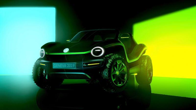 VW ID. BUGGY con un fondo verde