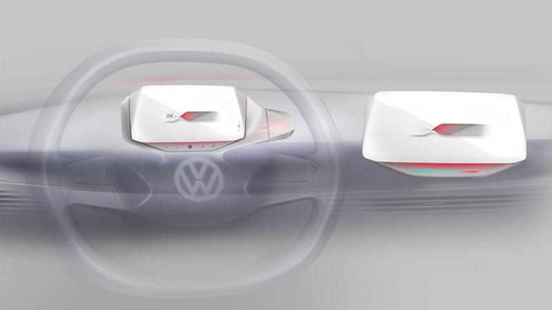 Volkswagen ID.3 disegno frontale
