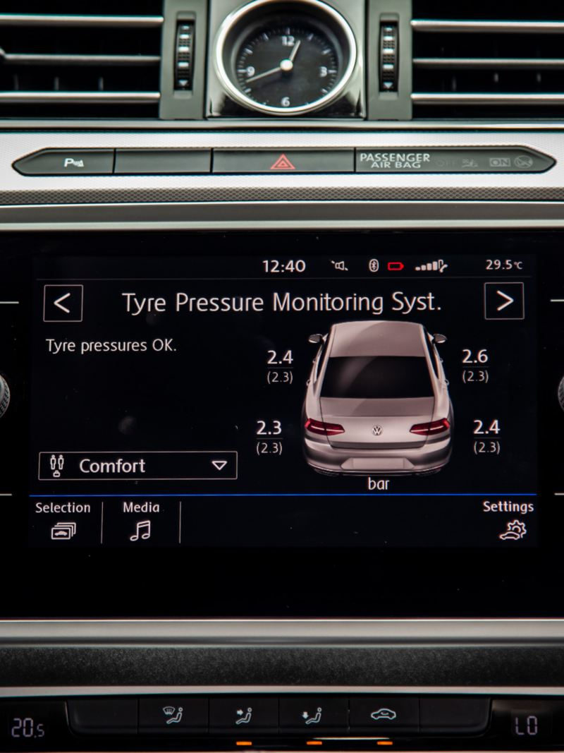 Theo dõi áp suất lốp TPMS Volkswagen Passat 2020