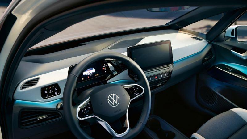 Salpicadero del nuevo ID.3 de Volkswagen visto desde la visión del conductor