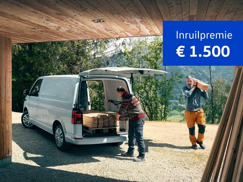 € 1500 inruilpremie van de Transporter 6-1