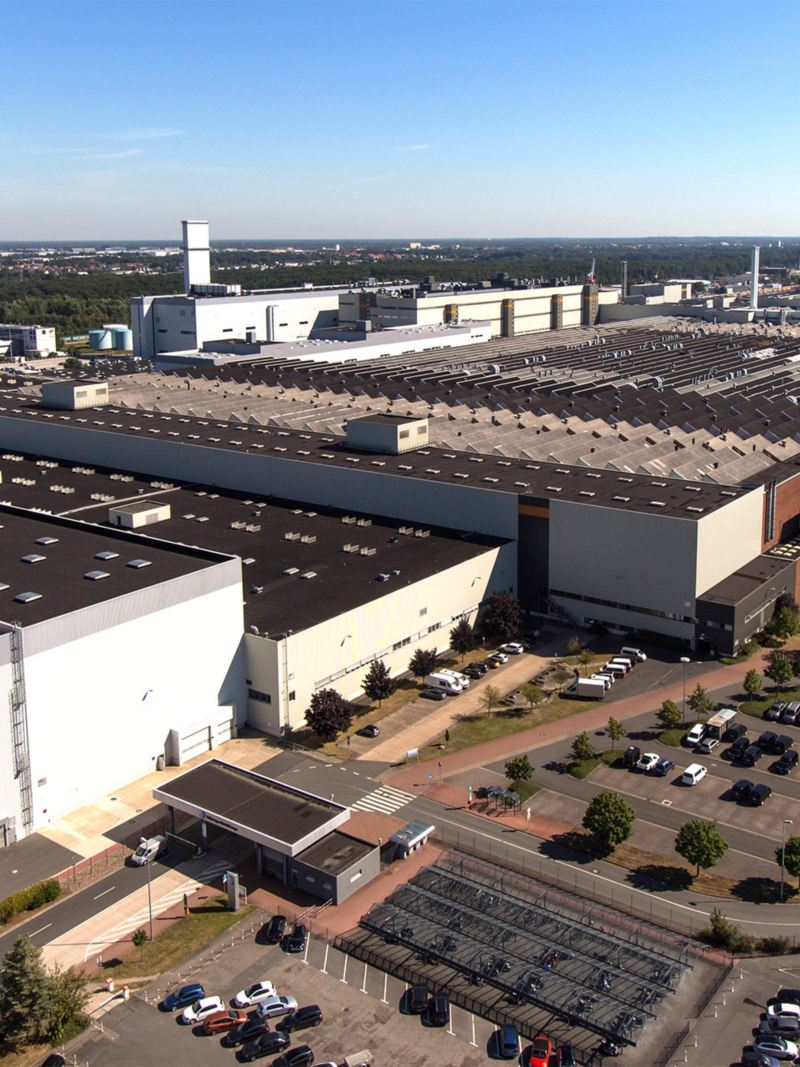 Panorama of Volkswagen's Hannover site