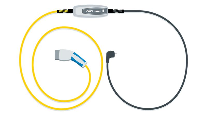 Illustration of a charging cable for the ID.3