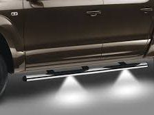 Stainless steel side bars with LED lights