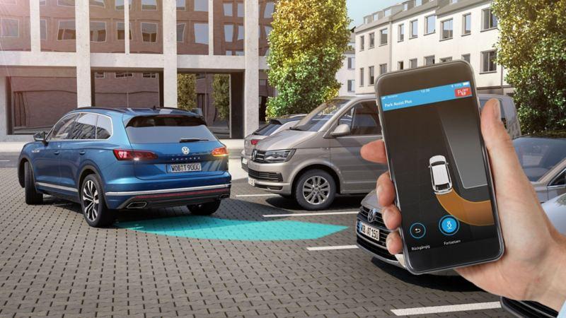 Estacionamento remoto com a Volkswagen
