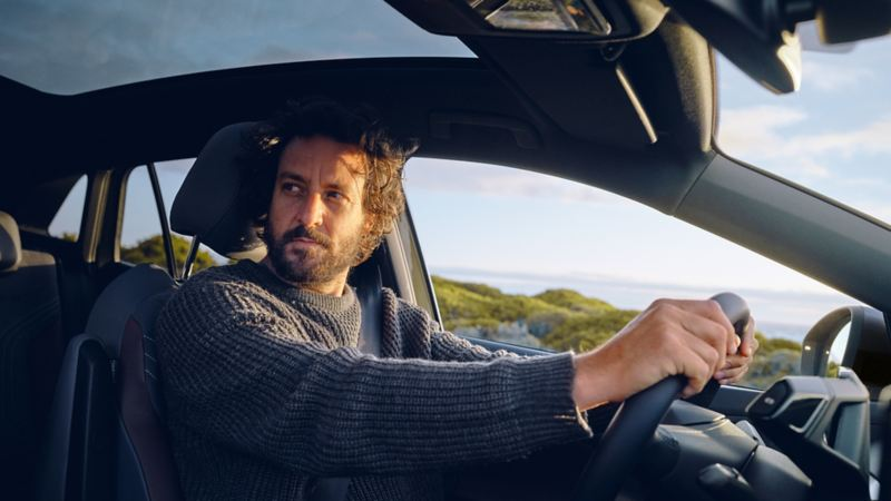 A man in a driver's seat - Volkswagen ID.4