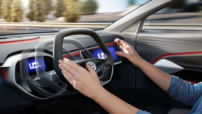 Fullt automatiserad körning i en Volkswagen.