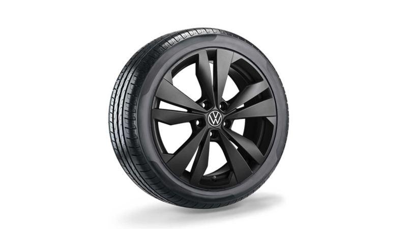 19-tommers Loen sort originale lettmetallfelger til VW Volkswagen ID.3