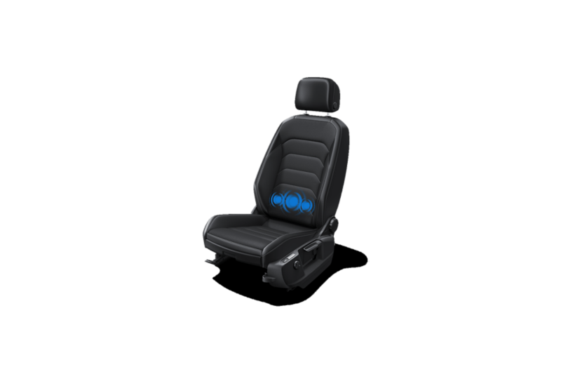 ergoActive seat with 14-way adjustment