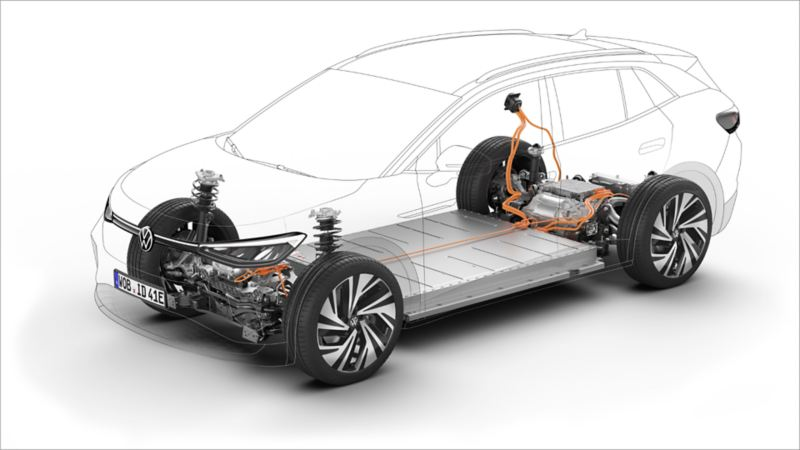 Volkswagen ID.4 – X-Ray view of the battery and chassis