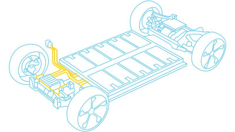 Schematische Darstellung des Modularen E-Antriebsbaukastens MEB