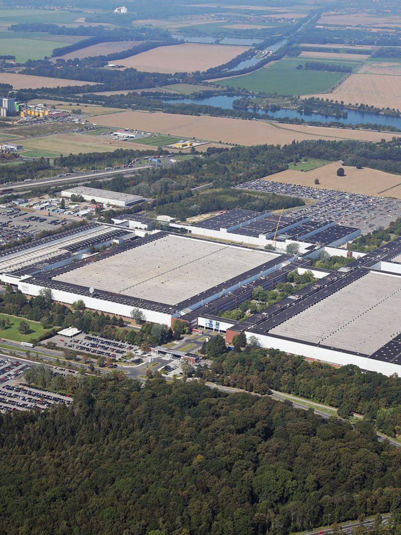 Panorama of Volkswagen's Salzgitter site
