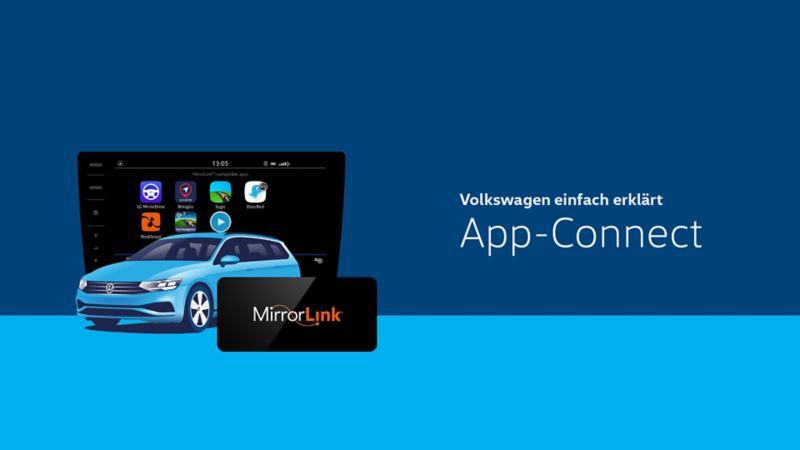 mirrorlink volkswagen app connect til android. Black Bedroom Furniture Sets. Home Design Ideas