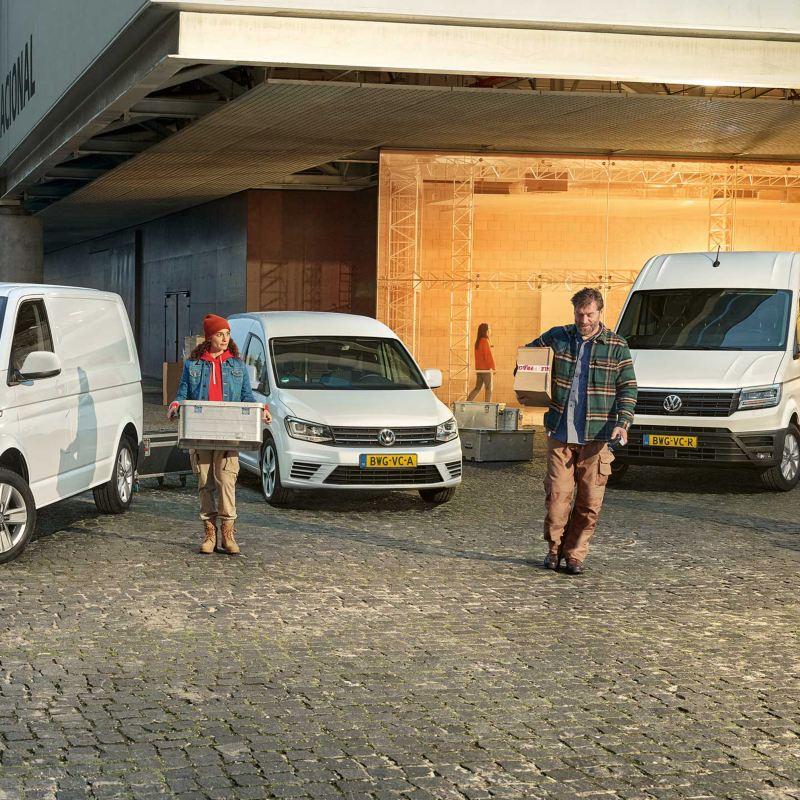 Modellen Volkswagen Bedrijfswagens