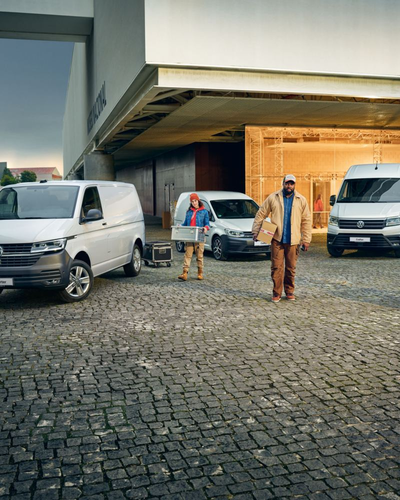 vw Volkswagen hvit Caddy varebil liten kompakt 3-seter tilbud kampanje sommerkampanje ekstrautstyr