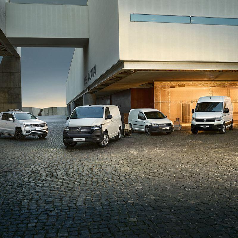 vw VW varebiler Caddy Cargo Amarok Transporter Caravelle Multivan e-Crafter pickup kassebil el varebil biogass gass