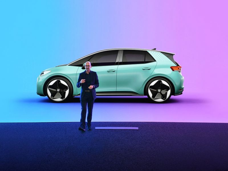 Klaus Bischoff alla presentazione di ID.3 VW