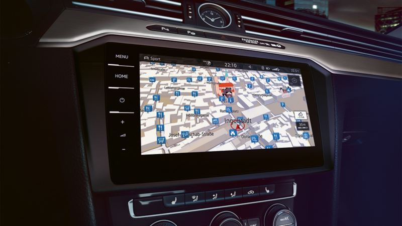 System nawigacji w komputerze pokładowym VW Passata