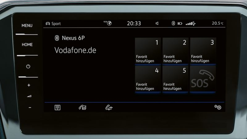Image of the Bluetooth function in a VW Passat