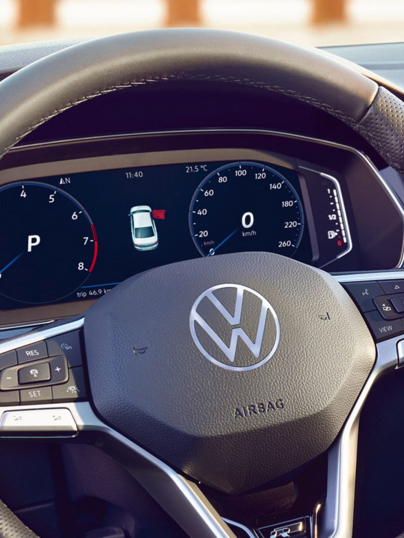 Digital Cockpit do VW Passat GTE, visualização da autonomia.