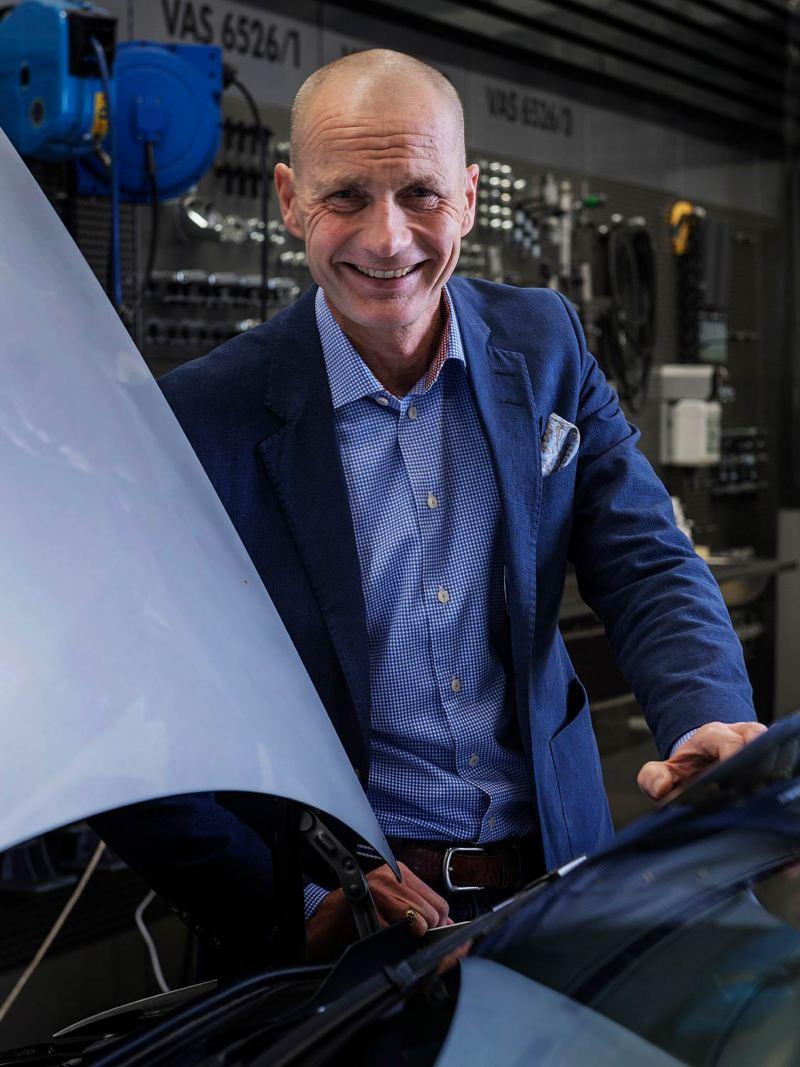 Per-Arne Lund, servicemarknadschef för Volkswagen transportbilar