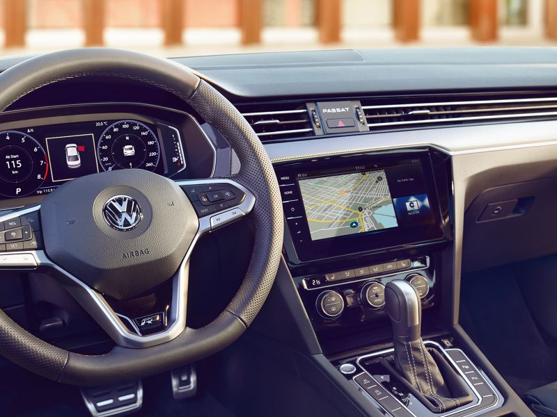 Radio and navigation system inside a VW car