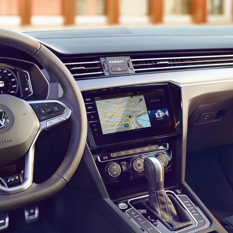 Radio and navigation system inside a VW car