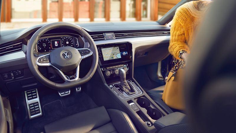 Interior view of the VW Passat R-Line