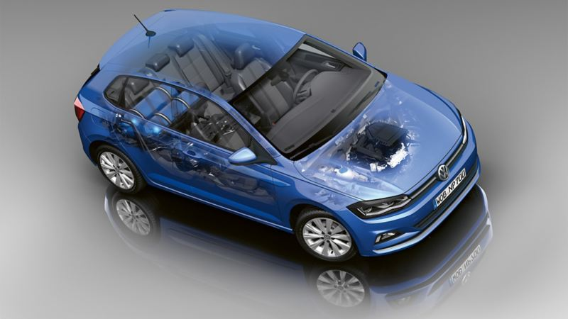 Schematic diagram in the VW Polo with TGI natural gas mode