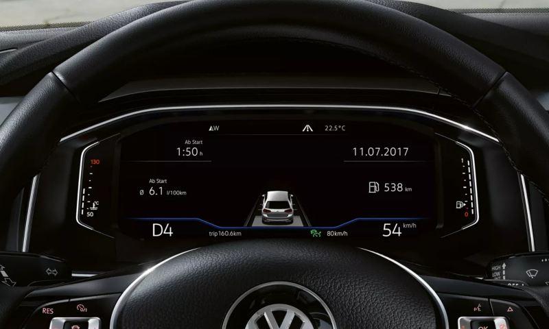 Poste de conduite digital Polo avec données de conduite