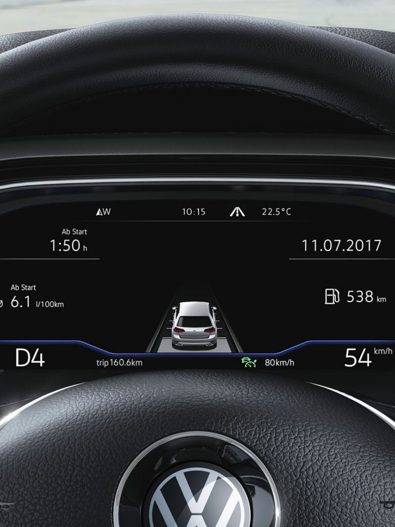 Polo Active Info Display mit Fahrdaten