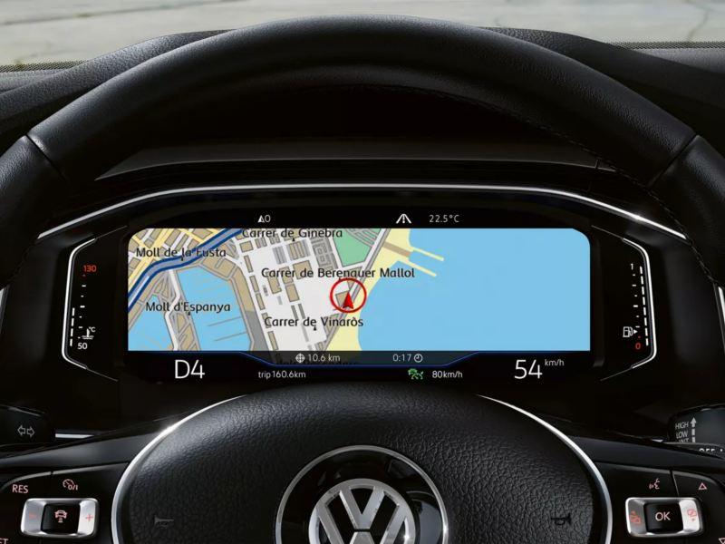 Poste de conduite digital Polo avec informations de navigation
