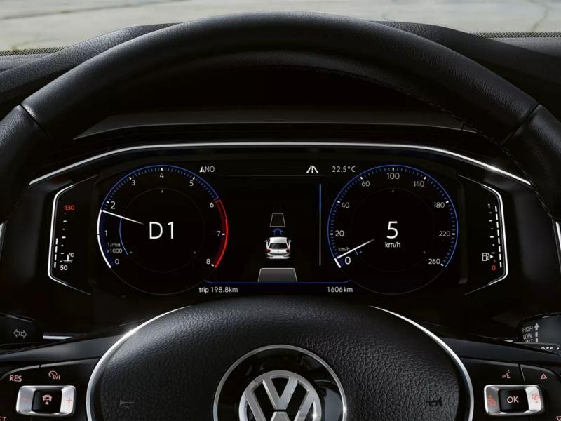 Poste de conduite digital Polo avec affichage de la vitesse