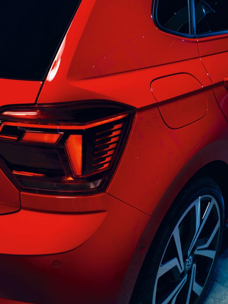 Volkswagen Polo GTI, vista posteriore con gruppi ottici