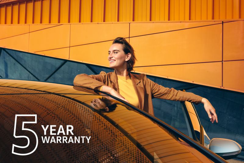 5 Year Warranty standard on all Volkswagen cars.
