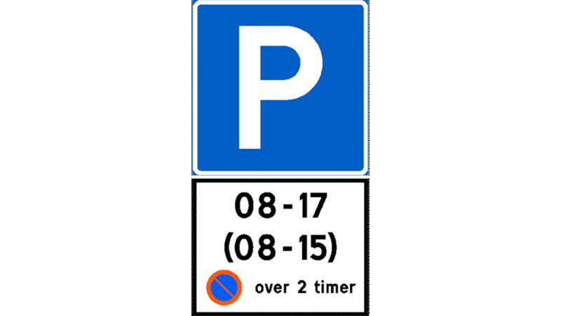 Parkering av elbil kommunale parkeringsplasser