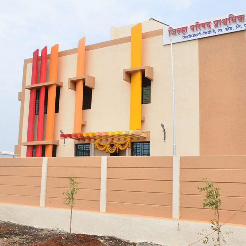 Phadkewasti Nighoje Village Chakan Pune School
