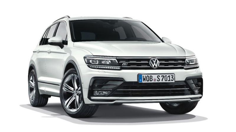 VW Tiguan, vista frontale con pneumatici Mobility